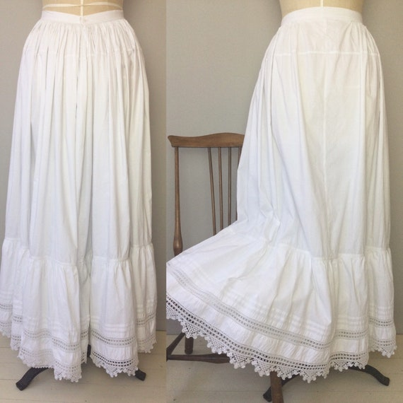Antique French Petticoat, Size XS/S, Antique Petti