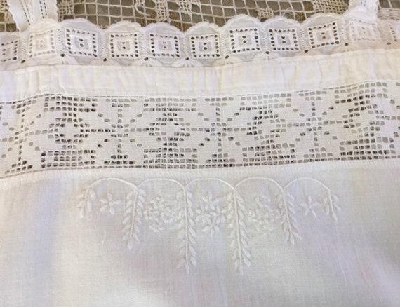 Antique Hungarian Chemise, Size S, Antique Cotton… - image 8