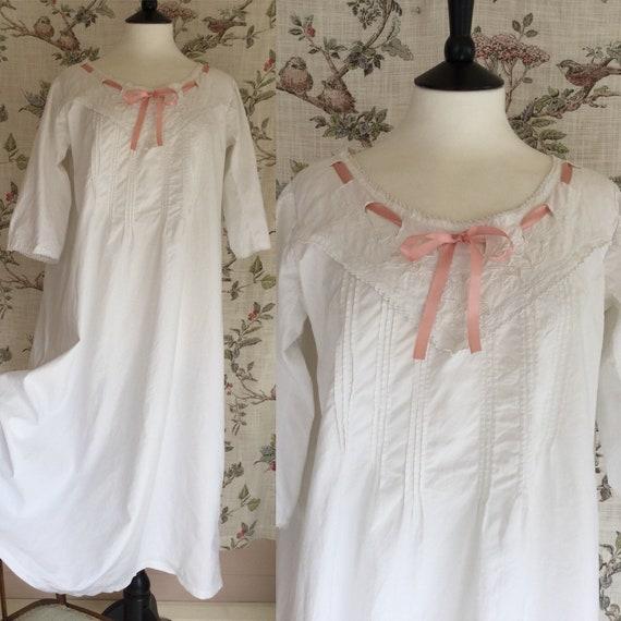 Edwardian Nightgown, Edwardian Nightdress, Antique