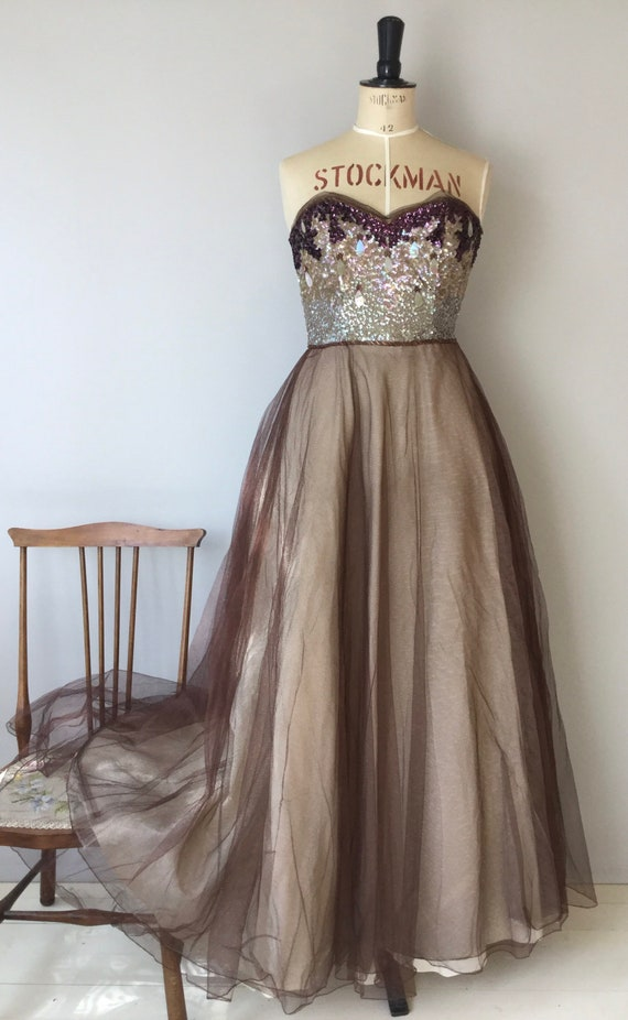 1940s Evening Gown, 1940s Dress, Full Length Gown… - image 2