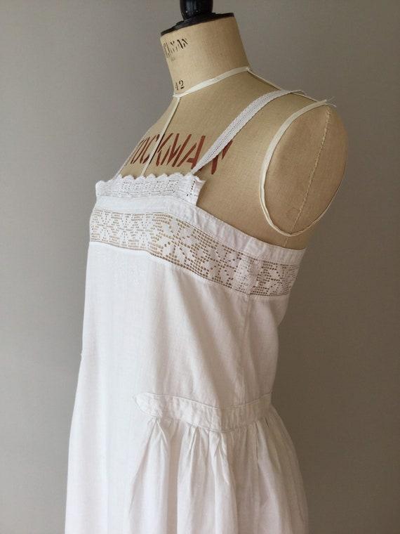 Antique Hungarian Chemise, Size S, Antique Cotton… - image 5