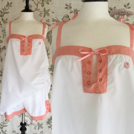 1920s Chemise and Tap Pants Set, 1920s Pyjamas, Mo