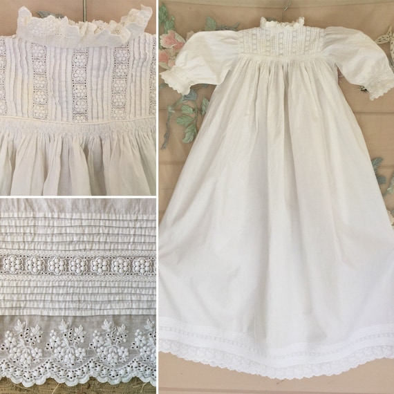 Antique Christening Gown, Victorian Christening Go