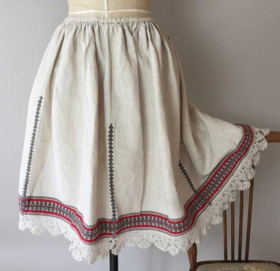 Antique Hungarian Folk Skirt, Size S, Folk Skirt,