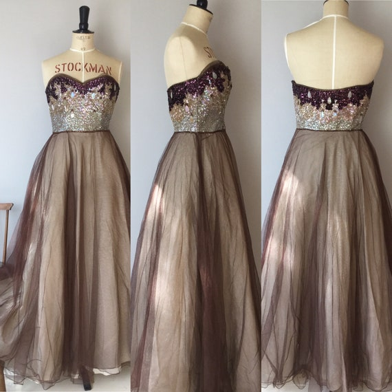 1940s Evening Gown, 1940s Dress, Full Length Gown… - image 5