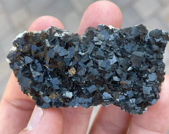 Powerful Protection! Brazil-RARE Black Tourmaline Premium Authentic Tumbled Crystals with Red Hematite Inclusions