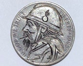 Rare 1995 D Real Hand Carved Japanese Warrior Jefferson Hobo Nickel Coin Art Engraving - Item HN19073