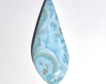 - Item:LAR19167 Top Quality 10.3g Polished Larimar Crystal Cabochon Polished in the USA Dominican Republic -