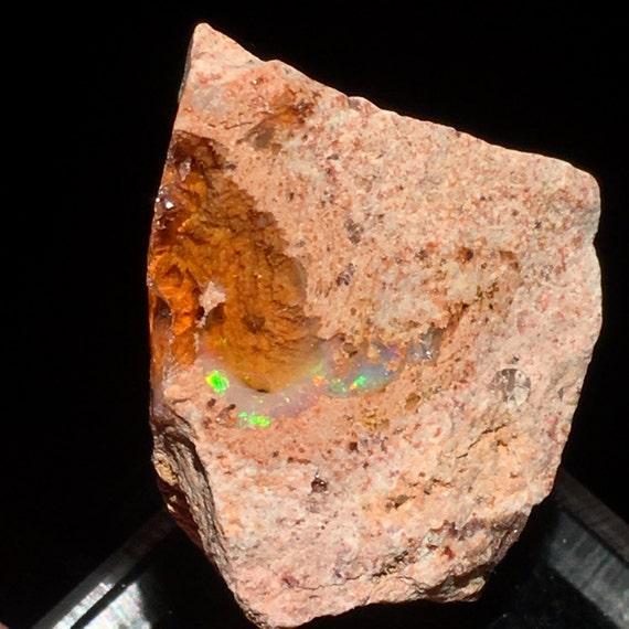 Top qualité ct 19,7 brut gelée opale de feu feu de cristal matrice - Mexique - article: O160509 2608f3