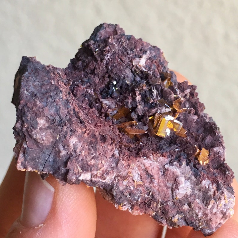 Top Quality 30g Wulfenite Crystals in matrix - Red Cloud Mine, Arizona, USA  - Item:WF16053