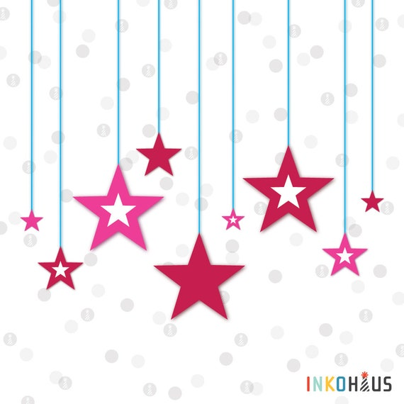 picture relating to Star Printable Cutouts known as Instantaneous Down load - Star Silhouette Cutouts - American Doll Printable Get together Range via InkoHaus - Preset of 32 - PDF
