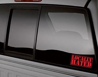 Lower Standards VERTICAL Pillar Windshield Vinyl Decal Sticker Car Truck Low GT