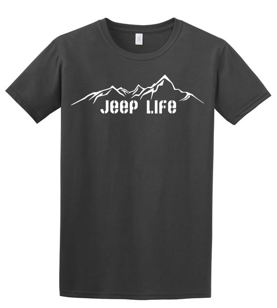 Lets Go to The Mountains Offroad 4x4 Jeep Shirt Made in The USA T-Shirt