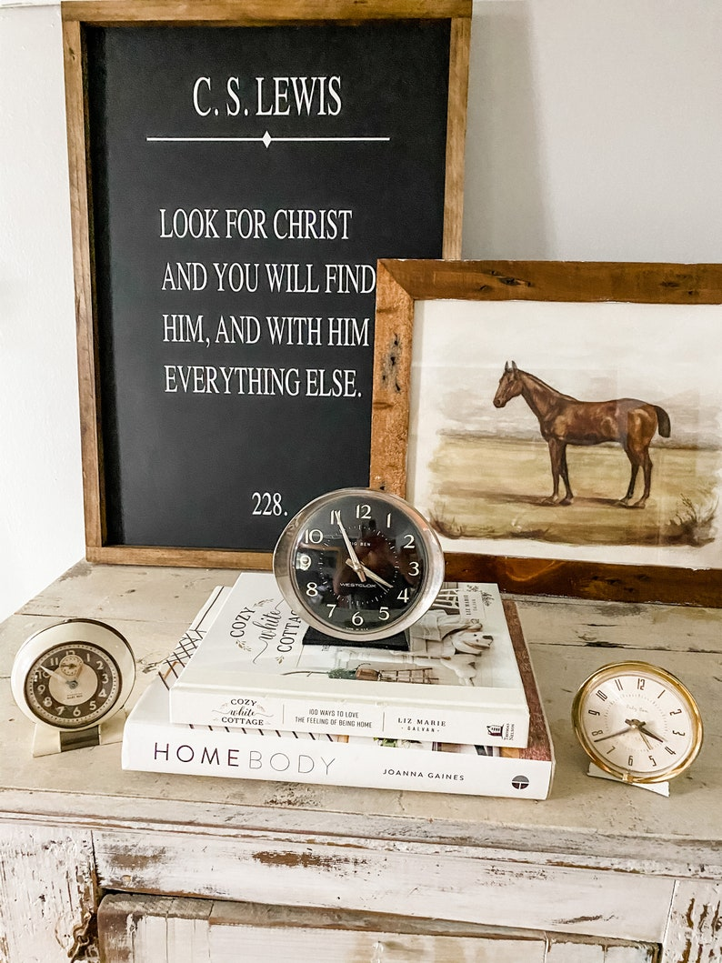 C.S Lewis Wood Sign Farmhouse Sign-Fixer Upper-Modern  Farmhouse-Book Page