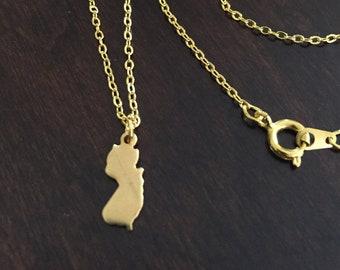 Nj gold necklace etsy new jersey necklace new jersey gold new jersey necklace new jersey jewelry new jersey pendant state necklace necklace gold necklace aloadofball Images