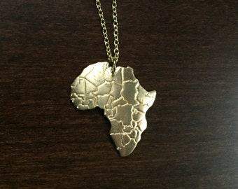 Africa necklace, Africa pendant, Africa jewelry, Africa, African, African necklace, African pendant, African jewelry, gold necklace, jewlery