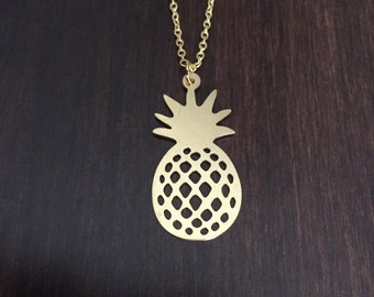 pineapple, pineapple necklace, pineapple jewelry, pineapple pendant, pine apple, pine apple necklace, pine apple jewelry, gold pineapple