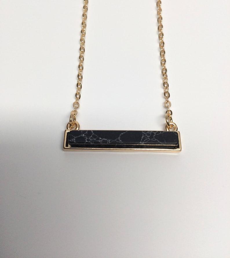 black bar necklace natural stone natural stone necklace natural stone jewelry black bar pendant bar pendant necklace bar necklace