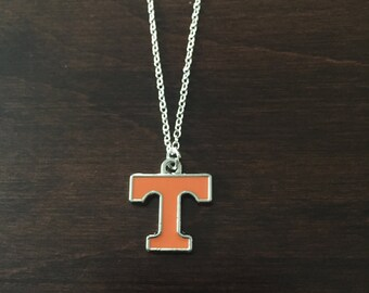 Tennessee necklace, Tennessee Volunteers necklace, Tennessee jewelry, Tennessee pendant, Tennessee, Vols, Tennessee Volunteers, T necklace