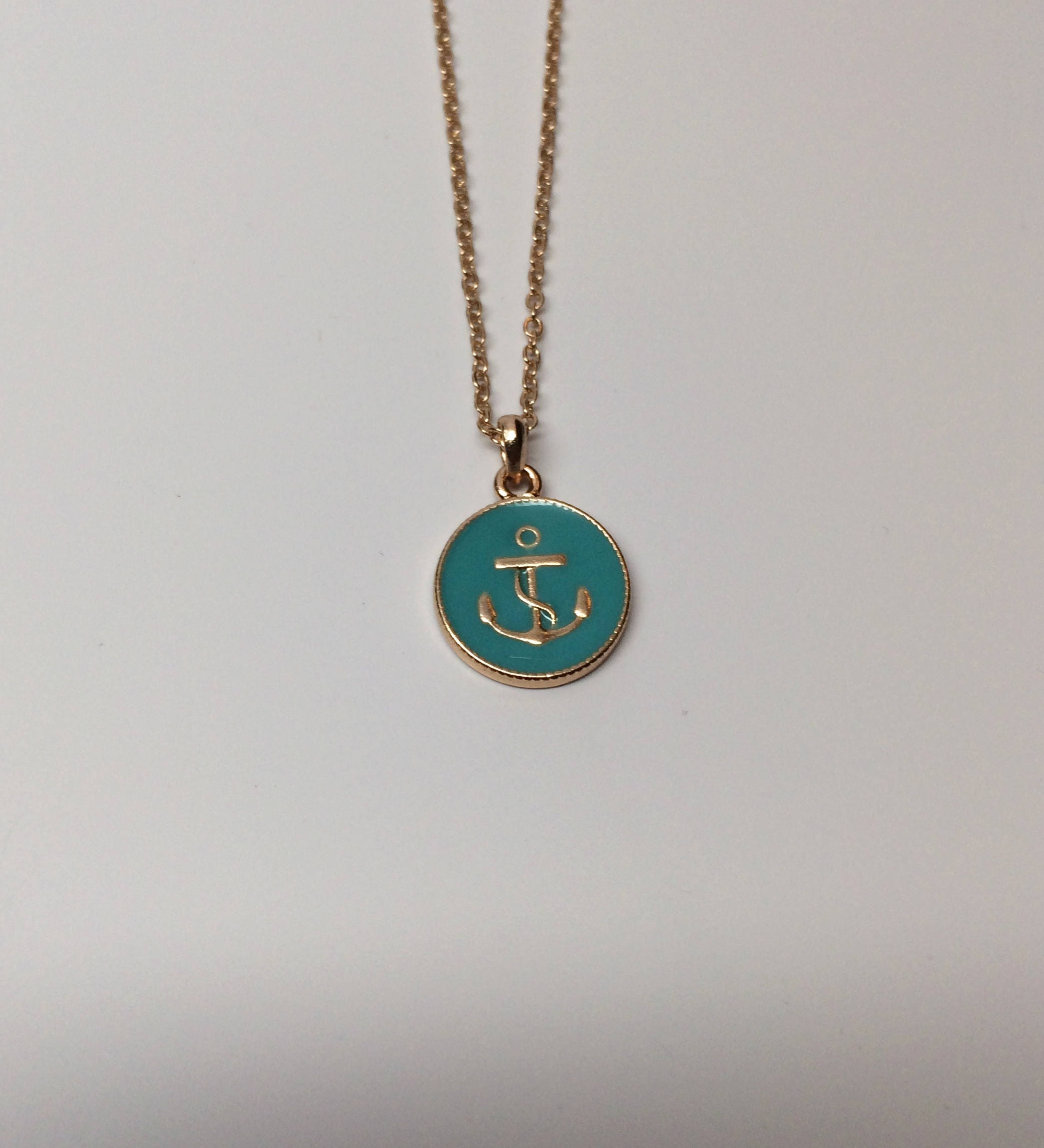 Choker Necklace Etsy: Anchor Necklace Gold Anchor Necklace Anchor Necklaces
