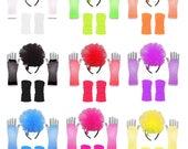 I Love 80 39 s Accessory Pack Neon Hen Party Fancy Dress Fun Run Club Wear Headband Legwarmers Gloves