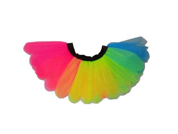 NUOVO Ragazze Neon Tutu gonna Nubilato Anni/'80 Costume Accessori Bracciali Multi