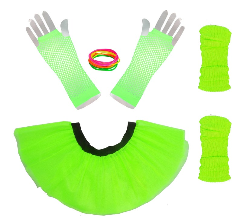 80/'s Long Short Fishnet Gloves Neon Colours Festival Fancy Dress Hen Night Party