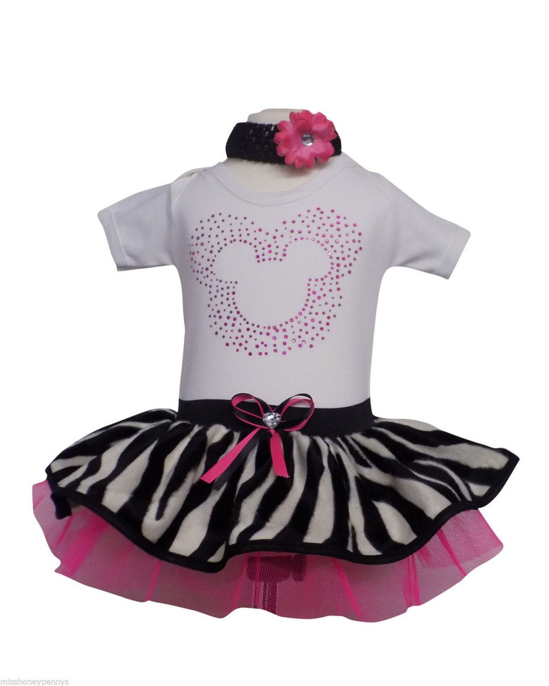 Minnie Mouse Style Tutu 80/'S Fancy Dress Party Costume Short Sleeve T-Shirt Kid