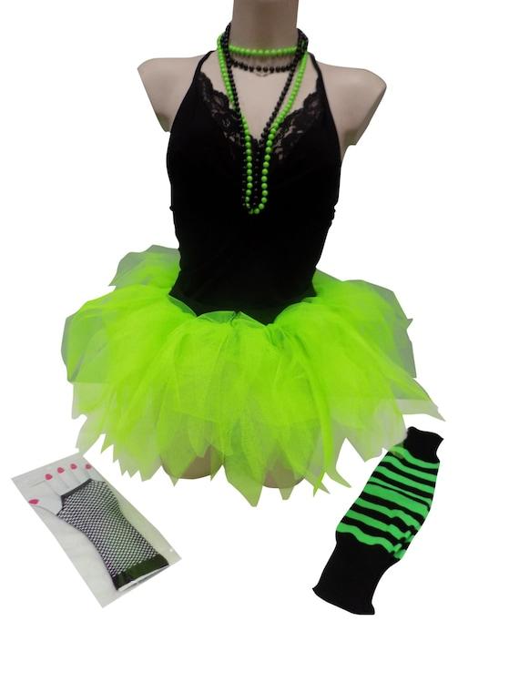 NEON 7 Layer Petalo Gonna tutu anni/'80 Costume Nubilato Halloween Donna