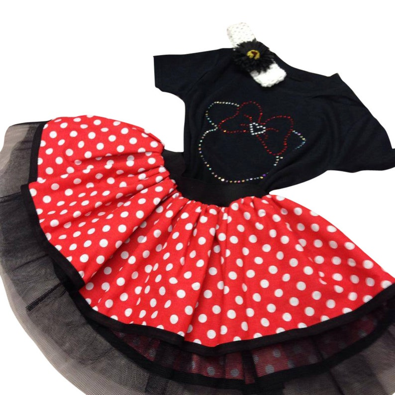 6706c4bef2 Baby Girl Toddler Minnie Mouse Fancy Dress Party Costume Polka | Etsy