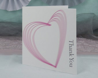Heart Illustrated Wedding Thank You card