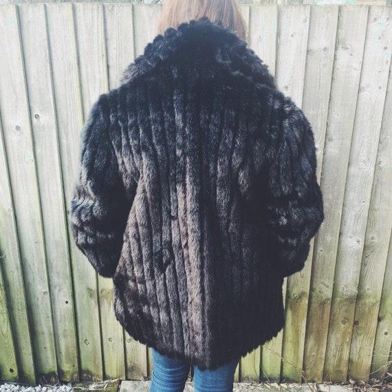 Vintage Faux Fur Winter Coat British Made Fur Coa… - image 6