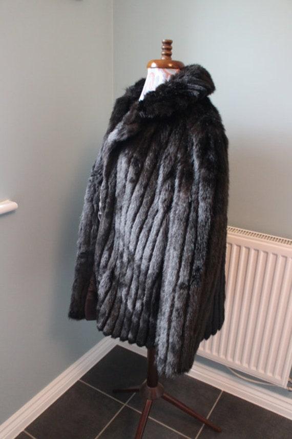 Vintage Faux Fur Winter Coat British Made Fur Coa… - image 5