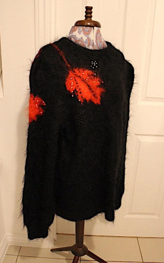 Mohair Wool Jumper, 1980s Jumper, Fugly Jumper, Ug