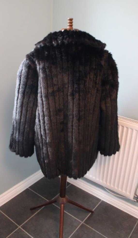 Vintage Faux Fur Winter Coat British Made Fur Coa… - image 3