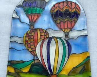Hot air balloons sun catcher