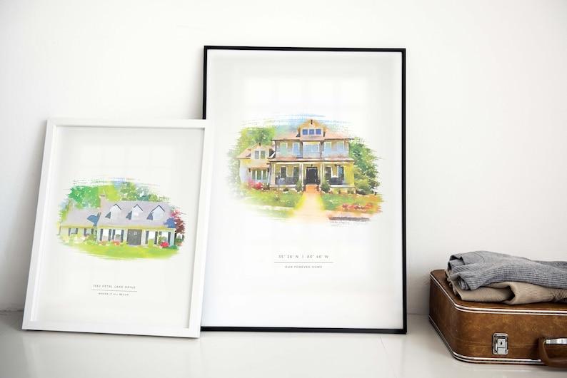 Custom House Portrait  Housewarming Gift  First Home Gift  image 5