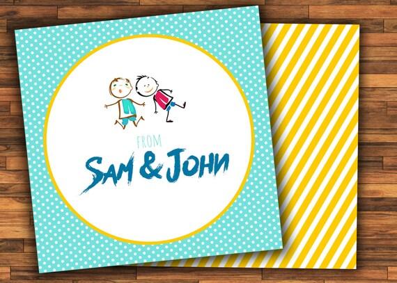 Visitenkarten Für Kinder Brüder Geschenk Aufkleber Geschenkanhänger Kinder Geschenk Tags Kinder Telefonkarten Für Geschenke Etiketten