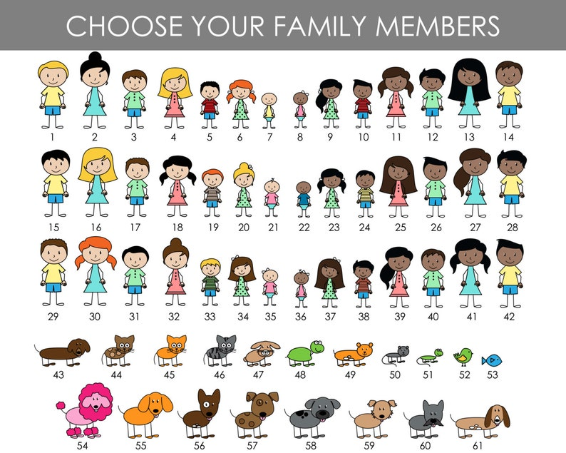 Stick Family Personalized Family Note Cards Family Gift Monogram Stationary Custom Family Family Stationery Thank You Cards