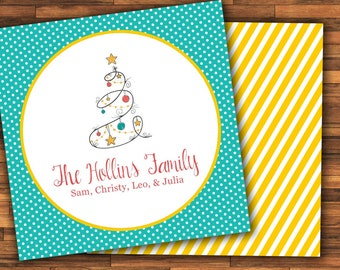 Christmas Calling Cards for Family - Gift Stickers - Gift Tags - Children's Gift Tags - Children's Calling Cards for Presents - Gift Labels