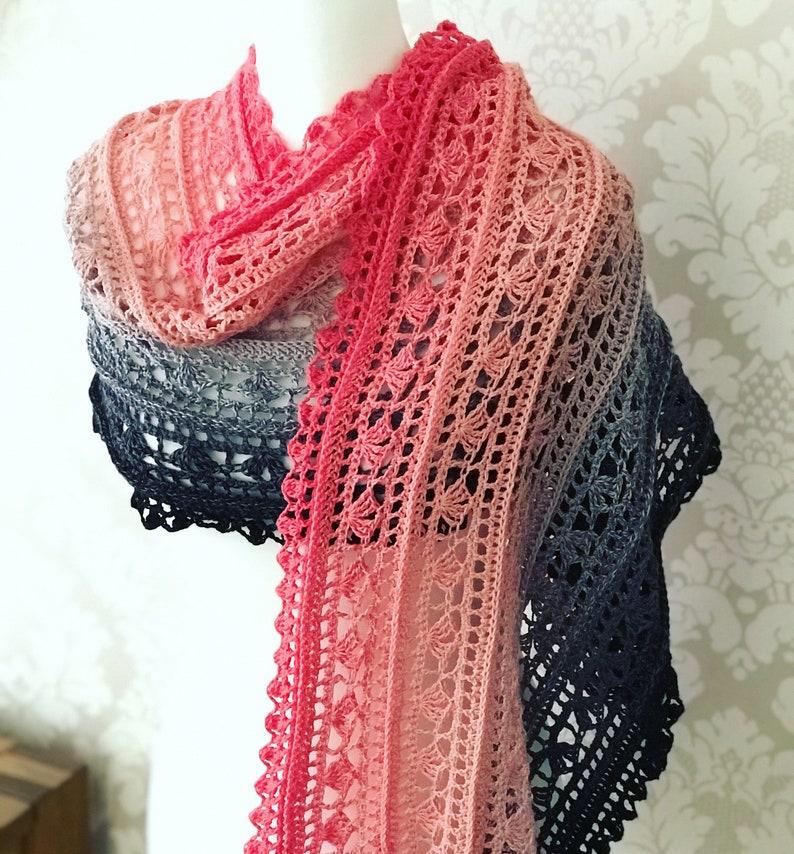 Shellscape - Crochet Shawl/Wrap PDF Pattern Download