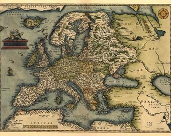 Antique Map of Europe, Ortelius 1570