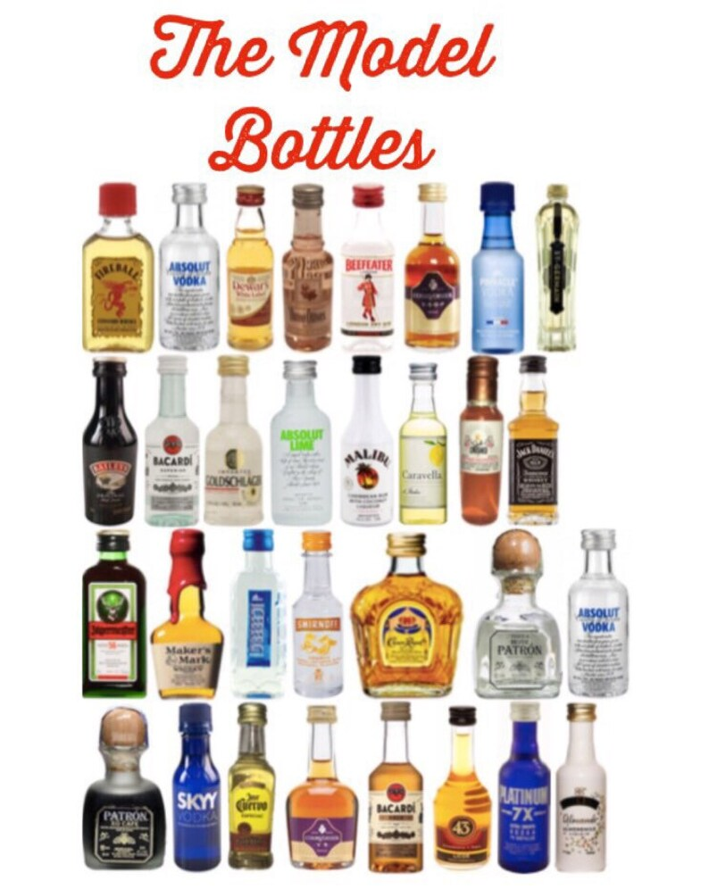 Mini Liquor Bottle Diy Labels Apothecary Potion Bottles Etsy