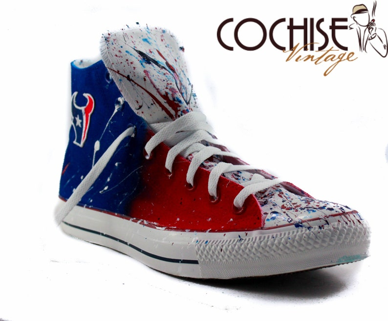 389bc4be08a0 Houston Texan Custom Airbrush Converse Chuck Taylor All Stars