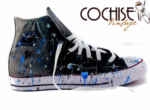 Carolina Panthers Spritzen benutzerdefinierte Airbrush Converse Chuck Taylor All Stars