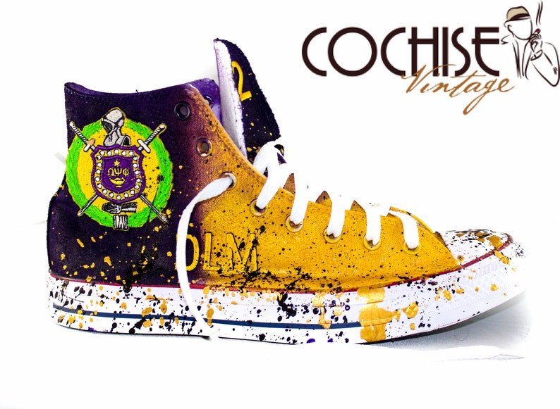92950acf929cd Omega Psi Phi Custom AirBrush Converse Chuck Taylors All Stars Greek Chuck  Taylors, Atomic Dog Chuck Taylors