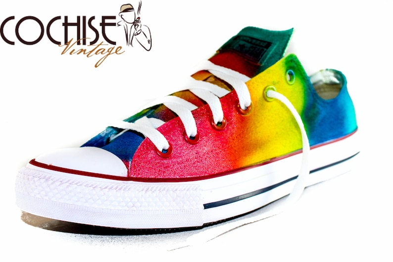 Rainbow Color Custom AirBrush Converse Chuck Taylors All Stars  d32ea95aed9c