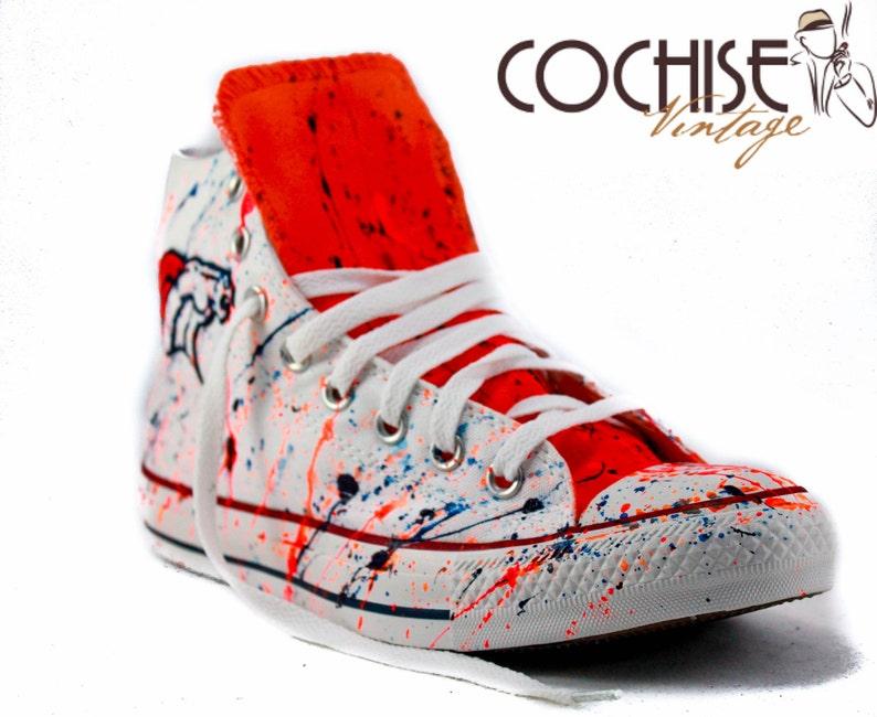 d0a7bf81cff088 Denver Broncos Custom Airbrush Converse Chuck Taylors All