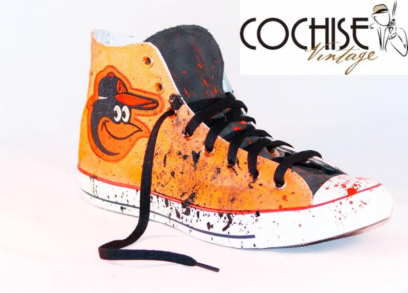 da81742cb062 Baltimore Orioles Custom Airbrush Converse Splash Chuck Taylor