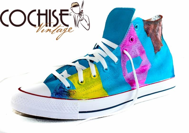 331de4b4d272 Abstract Custom AirBrush Converse Chuck Taylors All Stars